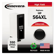 Innovera® Remanufactured CB321WN (564XL) High-Yield Chipped Ink, Black