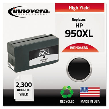 Innovera 950XL Remanufactured High Yield Laser Ink Cartridge, Black (2,300 Page Yield)