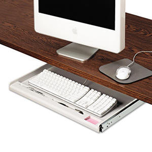 Innovera - Standard Underdesk Keyboard Drawer, 24-1/4w x 15-1/3d -  Light Gray