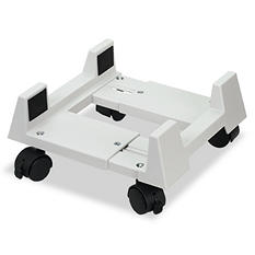 Innovera - Mobile CPU Stand, 8-3/4w x 10d x 5h -  Light Gray