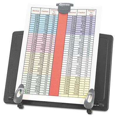 Innovera - Book Stand Freestanding Desktop Copyholder, Plastic -  Black/Dark Gray