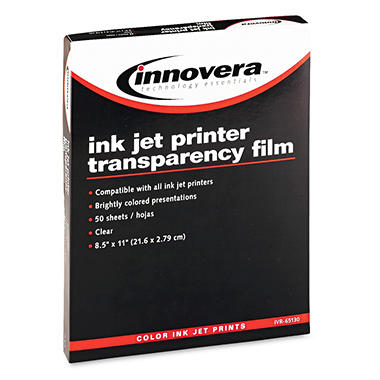 Clear Transparency Film for Ink Jet Printers
