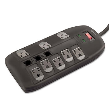 Innovera Surge Protector - 8 Outlets - 6' Cord - Tel/DSL - 2160 Joules