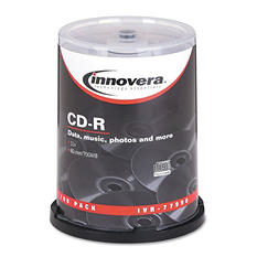 Innovera - CD-R Discs, 700MB/80min, 52x, Spindle, Silver -  100/Pack