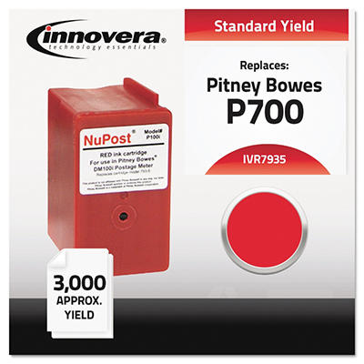 Innovera - 7935 Compatible, Remanufactured, 793-5 Postage Meter,  3000 Page Yield - Red