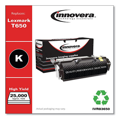 Innovera® Remanufactured T650H21A (T650) Toner, Black