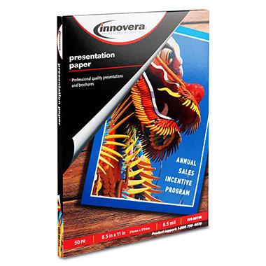 Innovera - Presentation Paper, Inkjet, 8 mil, Matte - 50 Sheets