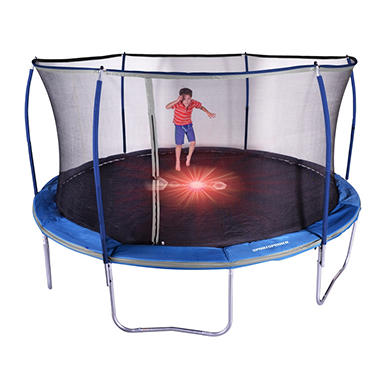 15' Trampoline and Enclosure Combo with Flash Light Zone