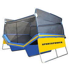 Super Jump Court V-Shaped Trampoline