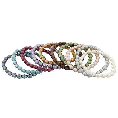 Mandarin Cultured Pearl Bracelets - Set of 10