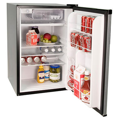 Haier 4.5 cu. ft. Compact Refrigerator/Freezer - Stainless Steel Appearance
