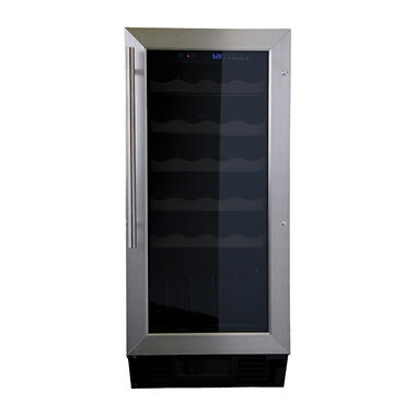 Haier 26-Bottle Wine Cellar, Silver Finish
