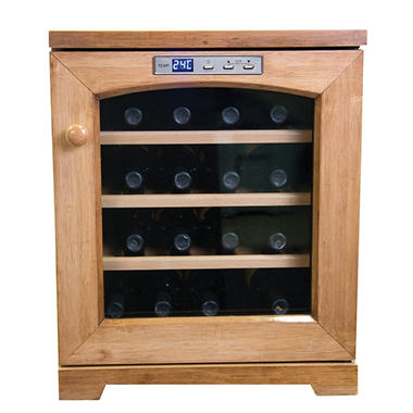 Haier 16-Bottle Bamboo Wine Cellar