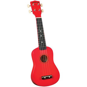 Diamond Head DU-102 Rainbow Soprano Ukulele - Red