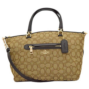 Signature Canvas Prairie Satchel Handbag by COACH