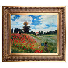 Hand-painted Oil Reproduction of Claude Monet's <i>Poppy Field in Argenteuil</i>.