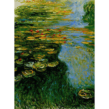 Hand-painted Oil Reproduction of Claude Monet's <i>Water Lilies</i>.