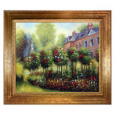 Hand-painted Oil Reproduction of Pierre Auguste Renoir's <i>Garden at Fontenay</i>.
