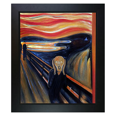 Hand-painted Oil Reproduction of Edvard Munch's <i>The Scream</i>.