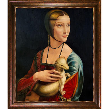 Hand-painted Oil Reproduction of Leonardo Da Vinci <i>Mona Lisa</i>.