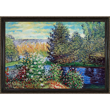 Hand-painted Oil Reproduction of Claude Monet's Corner of the Garden at Montgeron..