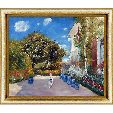Hand-painted Oil Reproduction of Claude Monet's  La Casa Della Artista.