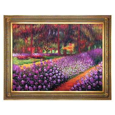 Hand-painted Oil Reproduction of Claude Monet's Artist's Garden at Giverny..
