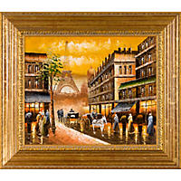 Hand-painted Oil Reproduction of Various Artists'  Evening's Delight In Paris.