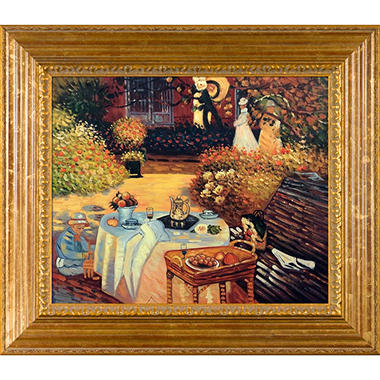Hand-painted Oil Reproduction of Claude Monet's The Luncheon.