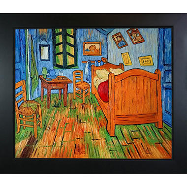 Hand-painted Oil Reproduction of Vincent Van Gogh's Bedroom at Arles.