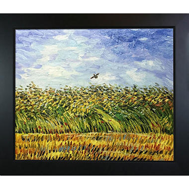 Hand-painted Oil Reproduction of Vincent Van Gogh's <i>Edge of a Wheat Field with Poppies and a Lark</i>..