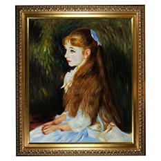Hand-painted Oil Reproduction of Pierre Auguste Renoir's Irene Cahen d'Anvers (1872-1963), 1880.