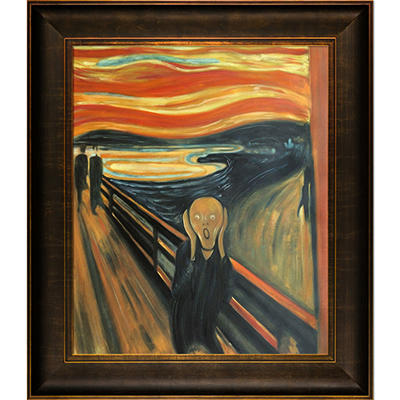 Hand-painted Oil Reproduction of Edvard Munch's The Scream.