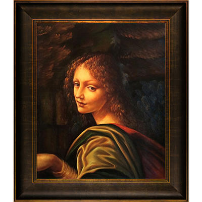 Hand-painted Oil Reproduction of Leonardo Da Vinci <i>The Virgin of the Rocks</i>.