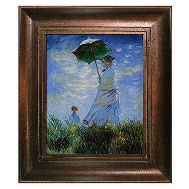 Hand-painted Oil Reproduction of Claude Monet's Madame Monet and Her Son.