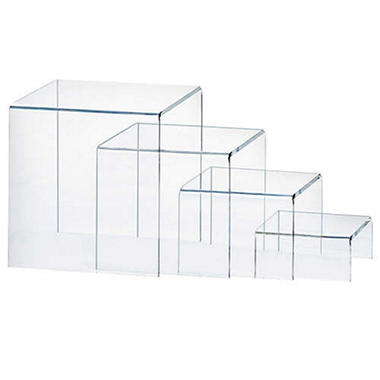 Acrylic Risers - Clear - Set of 4