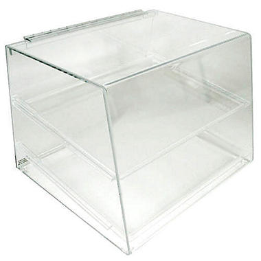 2-Tray Slant Front Counter Display w/ Rear Door