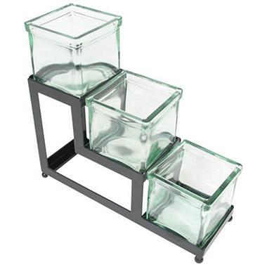 3-Tier Glass Jar Display