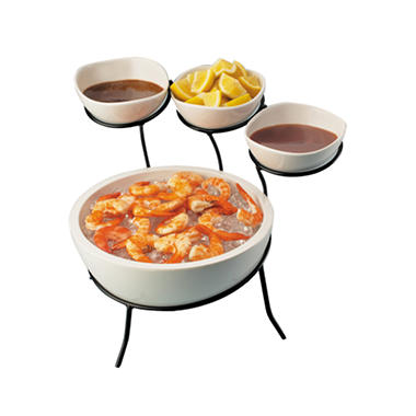 Appetizer and Condiment Service Station - 5 pc.