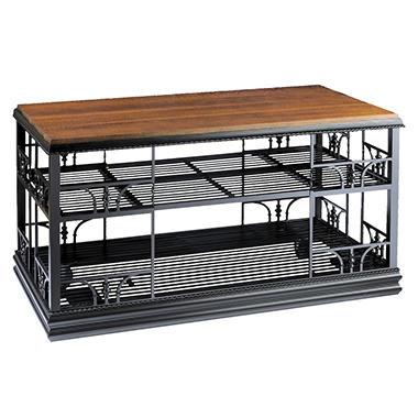 Mobile Server Cart - Wood Top