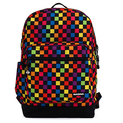 Yak Pak Vanderbilt Backpack in Multi Color Checker Print