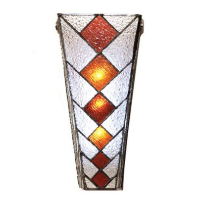 Leaded Glass Wall Sconces : Cone Shaped Stained Glass Wireless Wall Sconce - Sam s Club