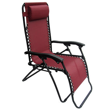 Caravan� Sports Infinity Zero Gravity Chair - Burgundy - 2 Pack