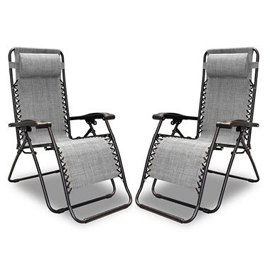 Caravan Sports Infinity Zero Gravity Chair 2 pk (Assorted Colors)