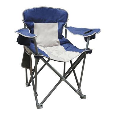 Caravan Sports 500 lb Capacity Quad Chair - Blue and Beige
