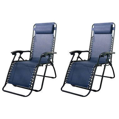Caravan� Sports Infinity Zero Gravity Chair-  Blue - 2 Pack