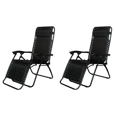 Caravan� Sports Infinity Zero Gravity Chair  - Black - 2 Pack