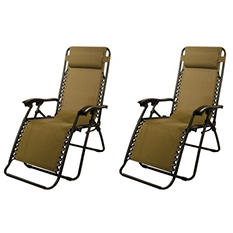 Caravan® Sports Infinity Zero Gravity Chair - Beige - 2 Pack