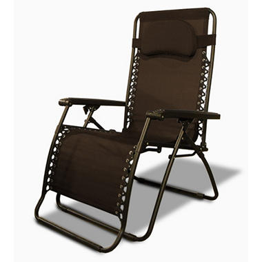 Caravan® Sports Oversized Infinity Zero Gravity Chair - Brown