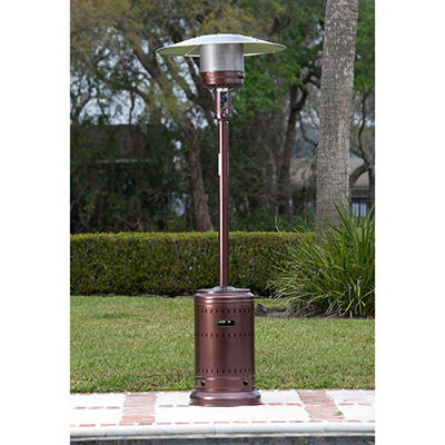 Fire Sense 46,000 BTU Hammer Tone Bronze Finish Commercial Patio Heater